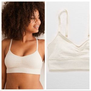 Aerie | Chill Cotton Bralette in Heather Frost